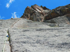 Rock Climbing Photo: P3: Here's the option of traversing right, below t...