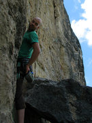 Rock Climbing Photo: Ben cruising up 5.9 Chockstone