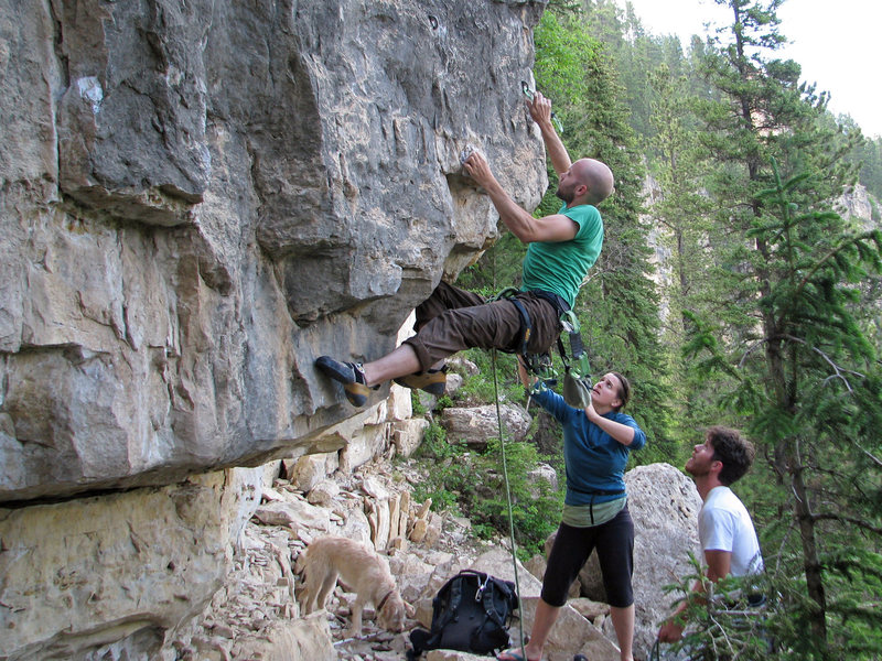 Rock Climbing Photo: Definitely a big bouldering move to get started