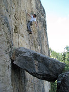 Rock Climbing Photo: Dan relaxing, well below that final ledge that tak...