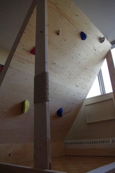 Rock Climbing Photo: Home bouldering wall