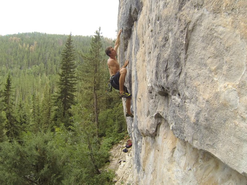 Reggie rockets up the rock that is bringing Armageddon, 5.12a