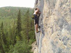 Rock Climbing Photo: Just like Bruce Willis, Reggie slams explosive mov...