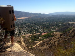 Rock Climbing Photo: Best view in town.  The dirt road seen below is Sh...