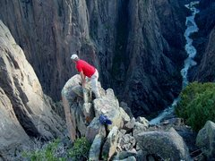Rock Climbing Photo: An awesome spot above the Black, looking down the ...