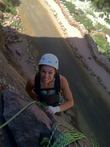 On the first pitch of Bastille Crack.