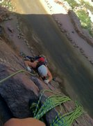 Rock Climbing Photo: Climbing up the first pitch.