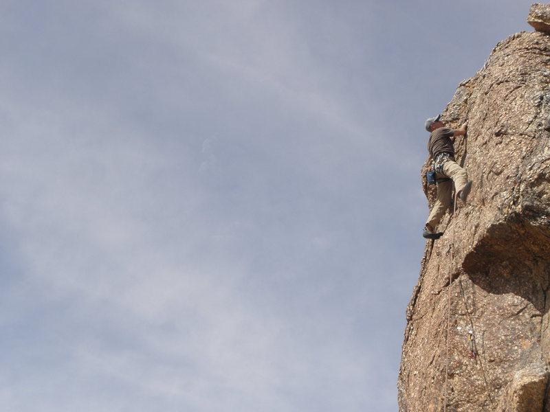 Rock Climbing Photo: S.B. on Body Bag.