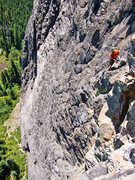 Rock Climbing Photo: Looking back on the 5th belay from the end of pitc...
