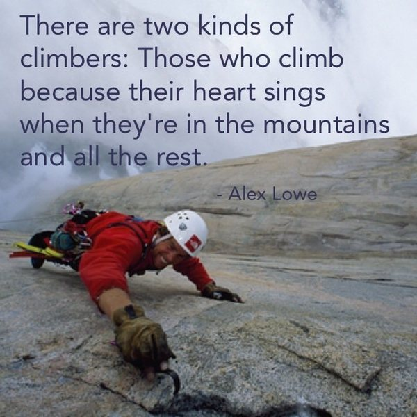 The only reason to climb is because its fun