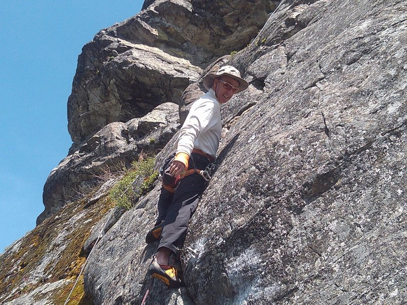 Paul on the cast ascent.