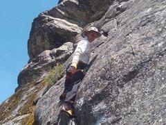 Rock Climbing Photo: Paul on the cast ascent.