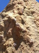 Rock Climbing Photo: The lower part has broken recently and there is a ...