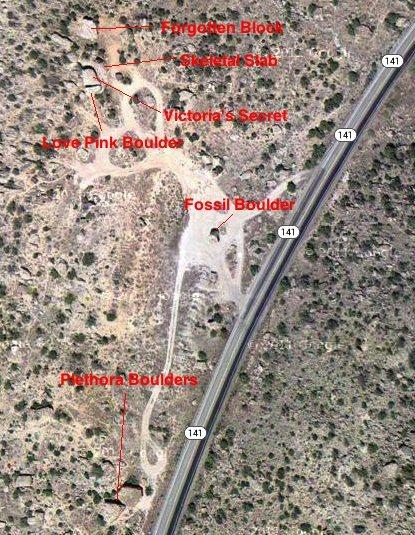 Rock Climbing Photo: Bone Park area map.