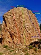 Rock Climbing Photo: Skeletal Slab routes.
