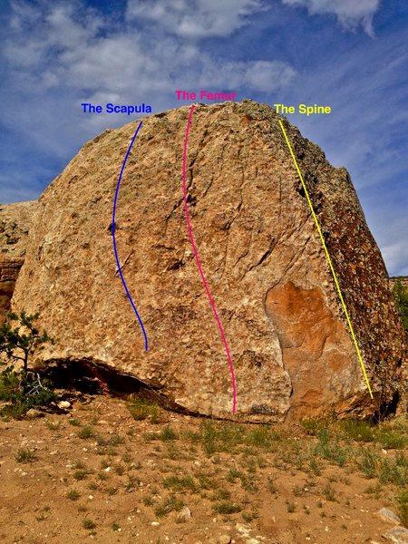 Skeletal Slab routes (2nd view).
