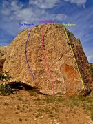 Rock Climbing Photo: Skeletal Slab routes (2nd view).