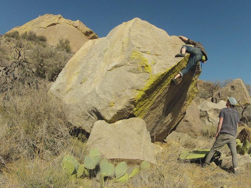 Rock Climbing Photo: Fun overhang problem