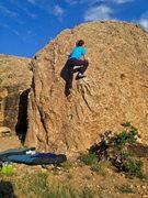 Rock Climbing Photo: Getting onto the shelf.