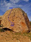 Rock Climbing Photo: Beta map.