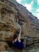 Rock Climbing Photo: Grabbing the first ledge.