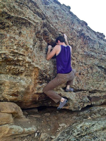 Rock Climbing Photo: Rocking over.