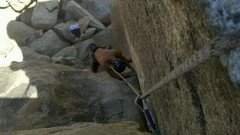 Rock Climbing Photo: Following my way up Classic Corner