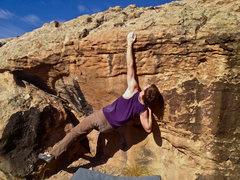 Rock Climbing Photo: Me lingereaching for the sloper.