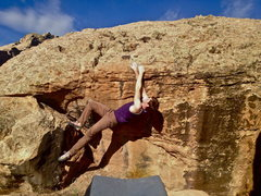 Rock Climbing Photo: Working towards a vertical posture.