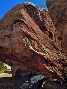 Rock Climbing Photo: Beta map.