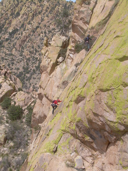 Rock Climbing Photo: Climbers on the 3rd pitch.