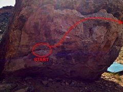 Rock Climbing Photo: Beta map (part 1).