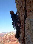 Rock Climbing Photo: Don't want to botch the traverse left on the 3rd? ...