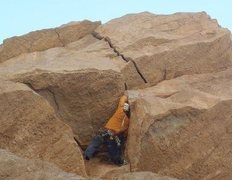Rock Climbing Photo: Working a new route in the UAE. Going back soon to...
