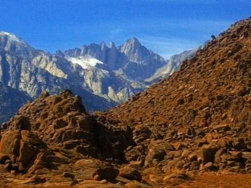 A view of Mt. Whitney from the Alabama Hills, Ca.