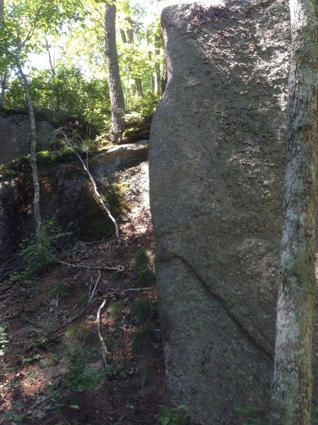 Rock Climbing Photo: Pretty sweet arete.  Climb it!