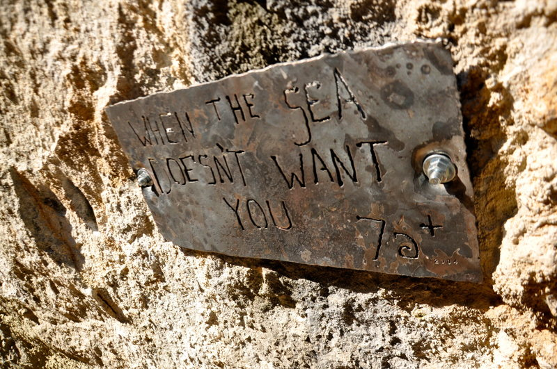 Rock Climbing Photo: route plaque