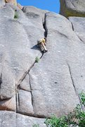 Rock Climbing Photo: Ethan doing Monkey Wrench with ease!