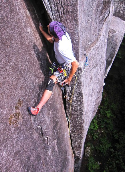 Near the top of Wet Dream (5.9).