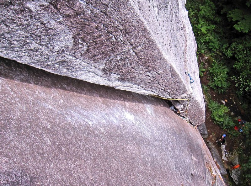 The view from near the top of Wet Dream (5.9).