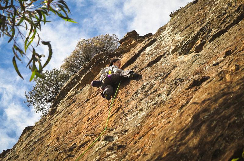 Rock Climbing Photo: Grey Slab warm up