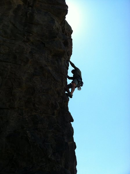 "Rock Climbing Photo: Peter cruising on up ""City Girl""."