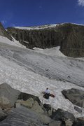 what is the couloir (left-center) that reaches the summit ridge called?