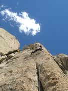 Rock Climbing Photo: 3rd pitch arete.  Awesome!
