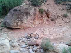 Rock Climbing Photo: High clearance crux of the drive, about 1 mile pas...