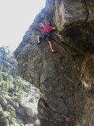 Rock Climbing Photo: Adam on P2.