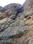 Rock Climbing Photo: Alcove. Fun route. Boat anchor for optional streng...