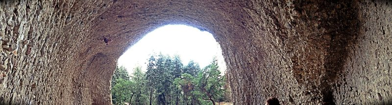 Panoramic Shot from deep in Cave