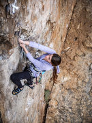 Rock Climbing Photo: Guillotine at Echo Cliffs