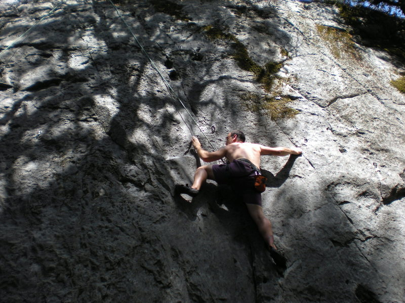 Failed attempt at the crux of____ The Shredding, Burney, CA